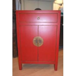 Liten röd hallbyrå   - Kinesiskt rött skåp