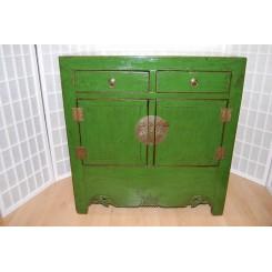 Vacker gammal byrå/skåp i grönt