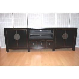 TV bänk svart 180 cm flera lådor