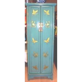 Smalt fjärilskåp turkosblå