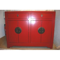 Röd Byrå/Skåp 115 cm bred