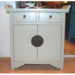 Dekorativt kinaskåp/byrå vit 30 cm djup
