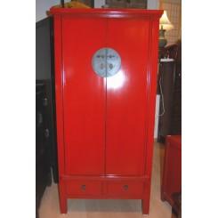 Kinaskåp röd 152 cm h