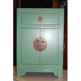 Sängskåp grönturkos med 1 låda