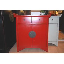 Dekorativ kinaskåp/byrå röd 30 cm djup