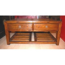 Brunt bord med lådor