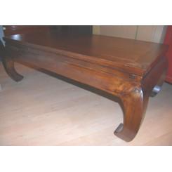 Opiumbord i vackert trä - Brunt