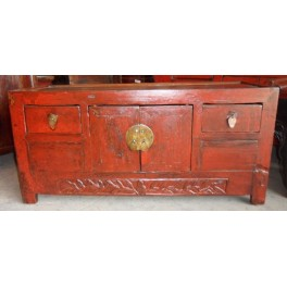 Kinesisk gammal bänk rödbrun - Kangbänk röd