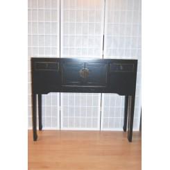 Smal hög byrå m 2 lådor/2 dörrar - Smal hög byrå i svart