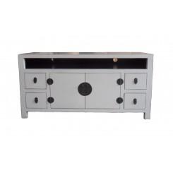 TV bänk vit i asiatisk stil 122 cm
