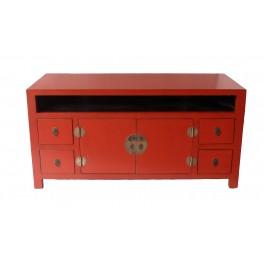 TV bänk röd i asiatisk stil 122 cm