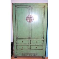 Grönturkos gammalt kinaskåp