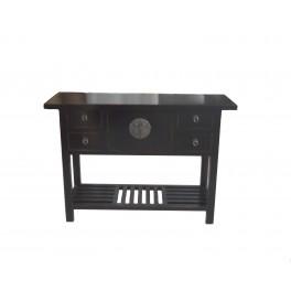 Smalt sidobord svart bra förvaring