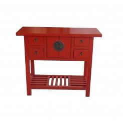 Smalt sidobord röd bra förvaring