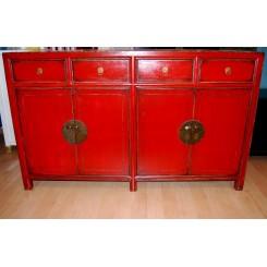 Röd kinesisk skänk 148 cm