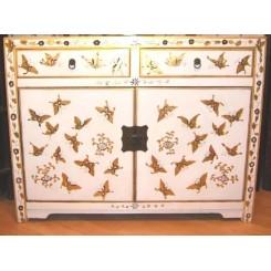 Kinesiskt fjärilsskåp vit 110 b