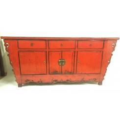 Kinesisk gammal röd skänk 185 cm
