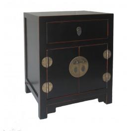 Asiatiskt sängbord/sidobord svart 50b 60h