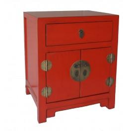 Asiatiskt sängbord/sidobord röd 50b 60h