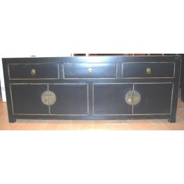 Asiatisk TV bänk svart 140 cm