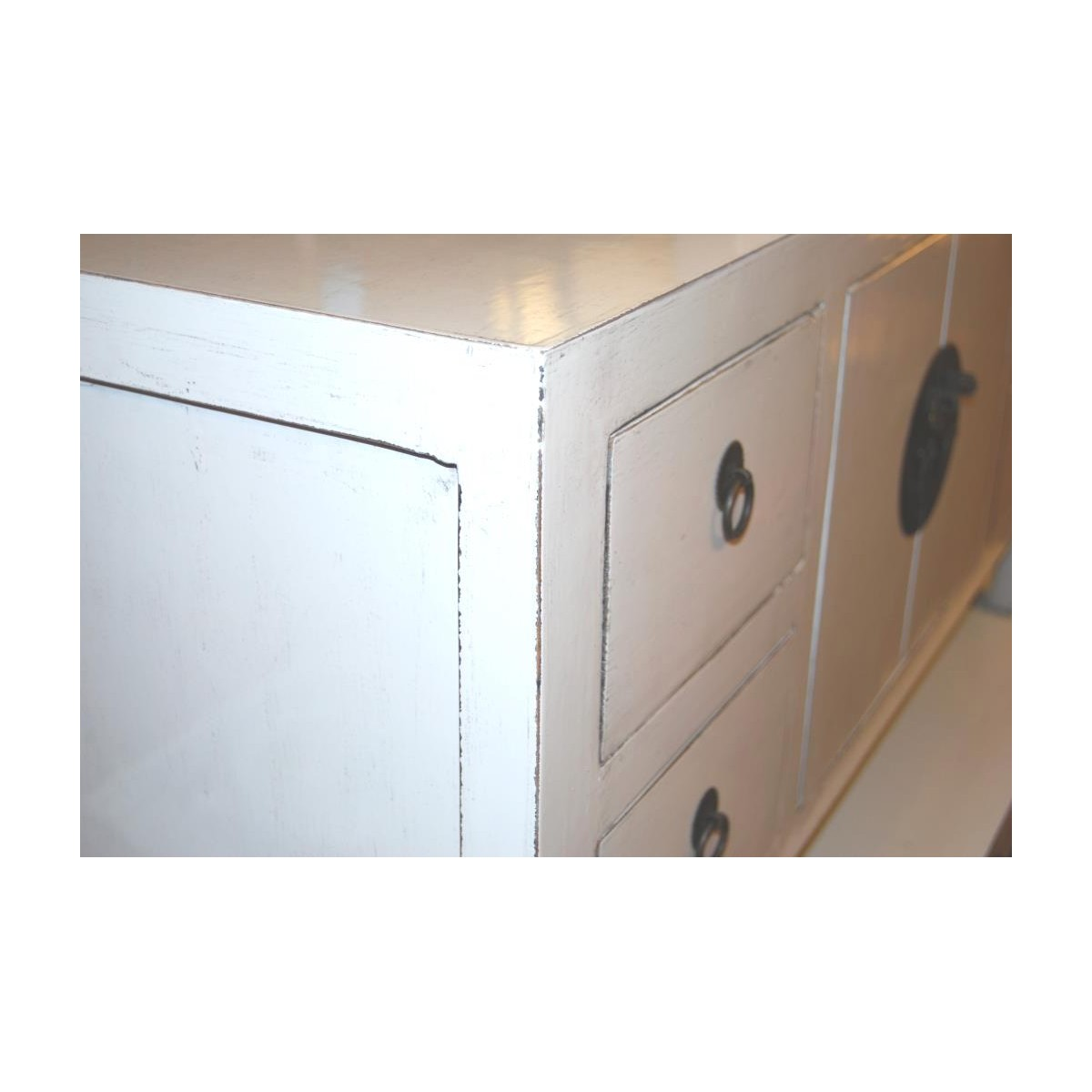 liten vit tv b nk 105 cm. Black Bedroom Furniture Sets. Home Design Ideas