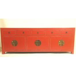 Röd TV bänk asiatisk stil 180 cm