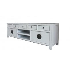 Asiatisk stil TV bänk vit 180 cm