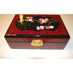 Smyckeskrin svart/röd plommonblom