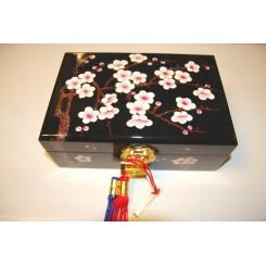 Smyckeskrin svart plommonblom