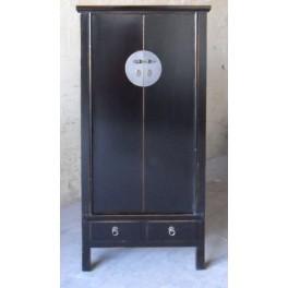 Kinaskåp svart 152 cm h