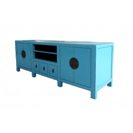 TV bänk turkos 180 cm flera lådor