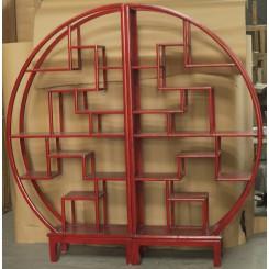 Klassisk kinesisk bokhylla - röd