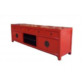 Asiatisk TV bänk röd 180 cm