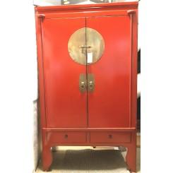 Rött brudskåp/bröllopsskåp 180 h